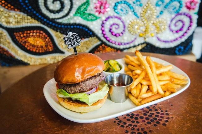 House of Blues smash burger