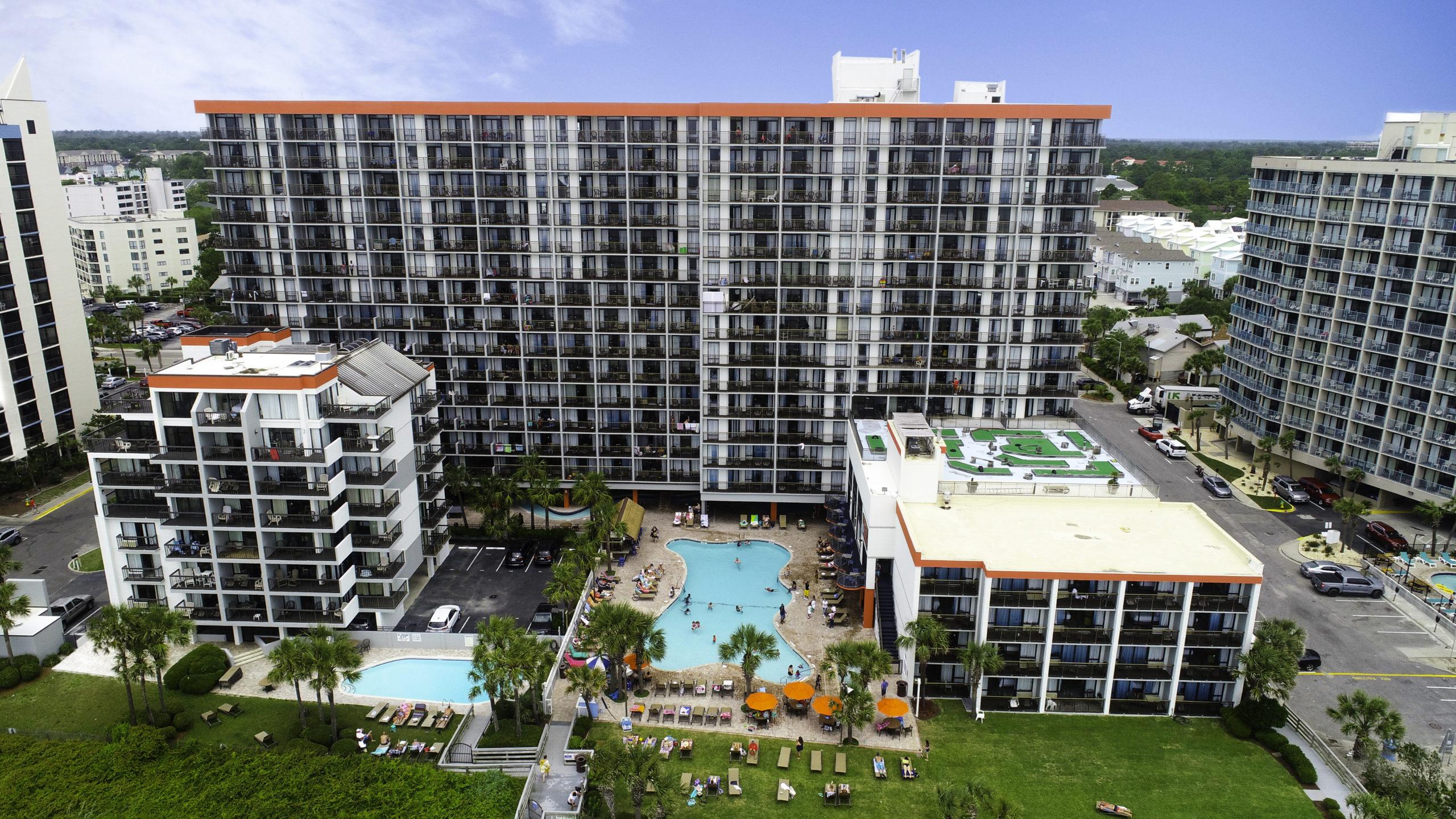 Grande Cayman Resort Drone Photo