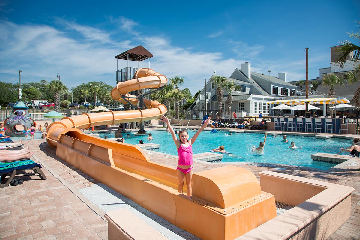 Caribbean Resort Outdoor Slide Myrtle Beach